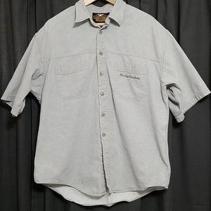 Gray Harley-Davidson Button-up Shirt
